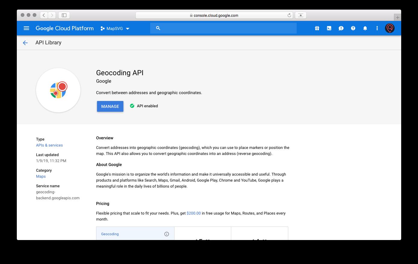 How to get Google API keys | MapSVG WordPress mapping plugin