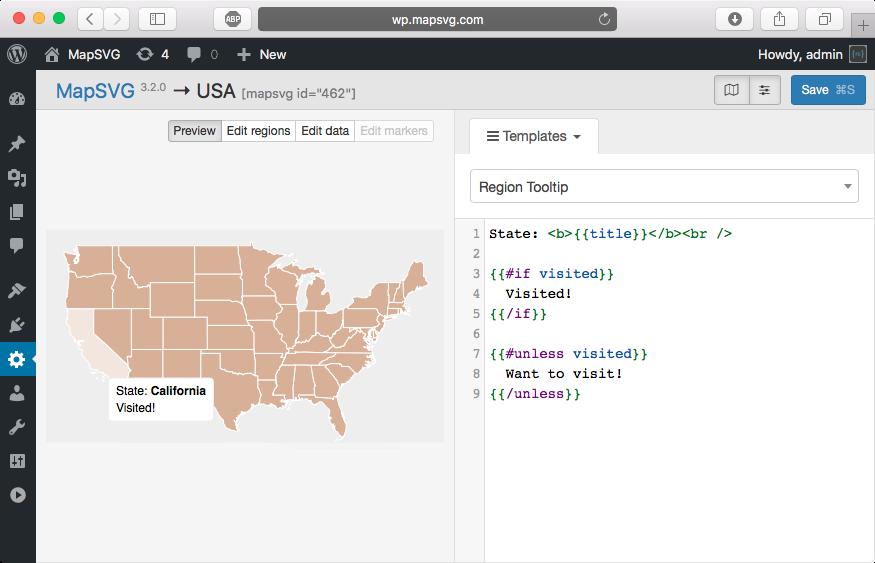 How to use templates | Tutorials | MapSVG WordPress map plugin